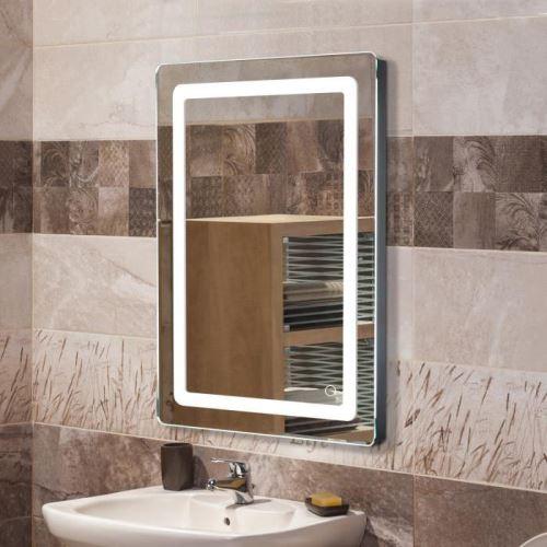 Miroir lumineux LED de salle de bain 9 W dim. 50 x 4 x 70 cm neuf