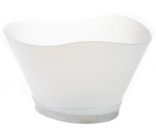 vasque pvc blanc à led multicolores - 3574
