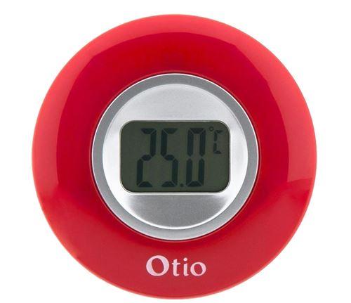 Otio thermomètre d'intérieur avec écran LCD 77 mm rouge