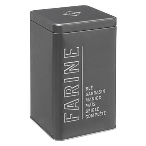 Boîte à Farine Relief V 18cm Gris