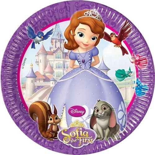 8 assiettes 23cm princesse sofia