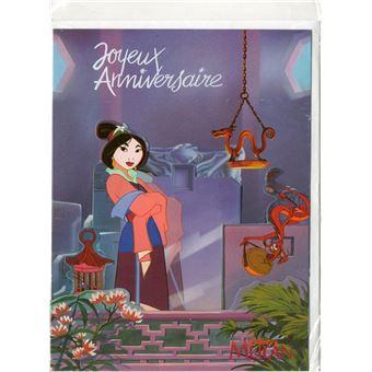 Carte D Anniversaire Mulan 45 Jeux D Eveil Achat Prix Fnac