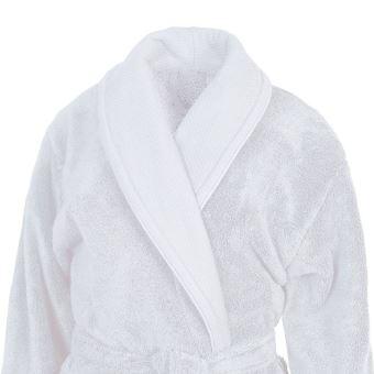 b8e26806ea26 Peignoir de bain col châle 450gr m² Sensoft Blanc 4 - XL - Achat   prix