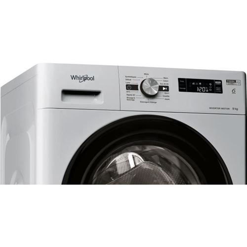 Lave-linge Frontal 9kg Whirlpool 1200tr/min A+++, Whi8003437043697