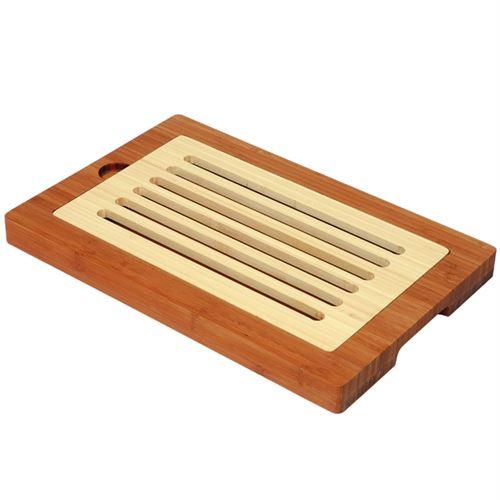 Planche a pain en bambou bicolore