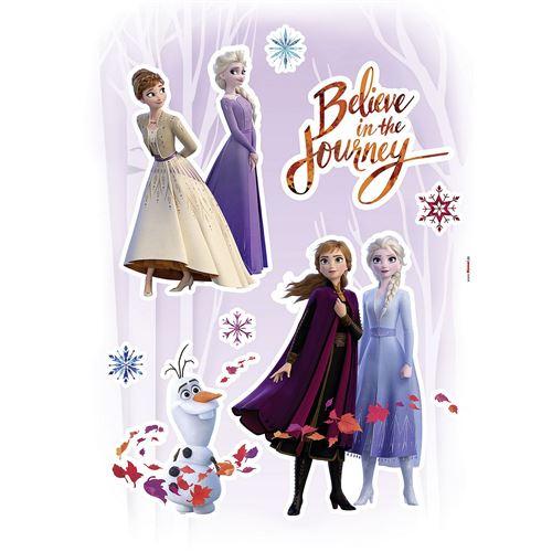 Stickers Décoration Murale La Reine des Neiges Believe in the Journey Croire au Voyage Disney