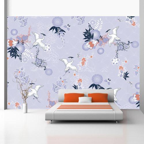 Papier peint - Flight of herons - 100x70 - Orient -