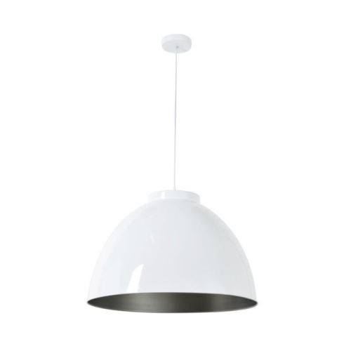 corep suspension en métal dock xxl - ø 60 cm - h 39 cm - e 27 - 60 w - blanc brillant