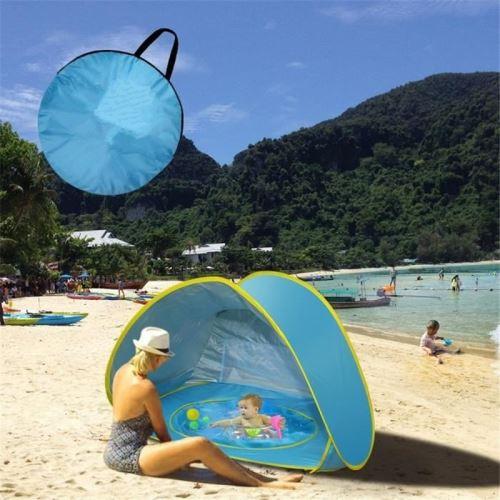 Baby Beach Tent Auto Piscine UV-protection piscine Seaside Beach Jouets Fun Fun Camping Sunshade Tentes Pliables pour Enfants Enfants