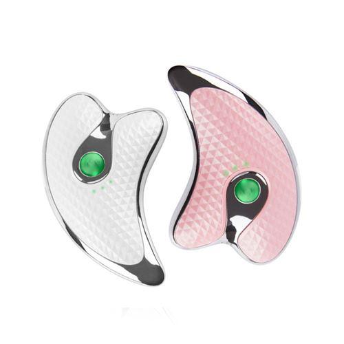 Instrument de massage de massage du visage en forme de V électrique Guasha Tools HUAMADE Équipement de beauté (rose)