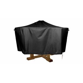 Housse de protection table ronde 130cm - Cov\'Up - Noir - Accessoires ...