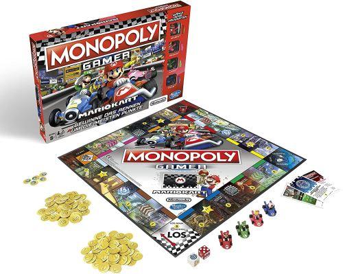 Monopoly Gamer Mario Kart Jeu de Société pour Adultes & Enfants Famille Classique des Jeux de Plateau Jeu de Communion pour 2 à 4 Personnes à partir de 8 Ans