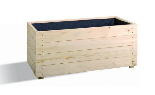 Jardipolys - Bac à fleurs en bois modulable et personnalisable 92L - ESSENCIA 80
