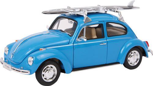 Voiture Miniature Vw Beetle + Planche De Surf