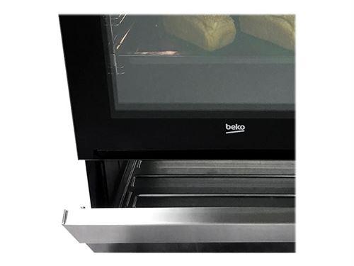 Beko FSE63120DWCS - Cuisinière - pose libre - largeur : 60 cm - profondeur : 60 cm - hauteur : 85 cm - avec système auto-nettoyant - blanc