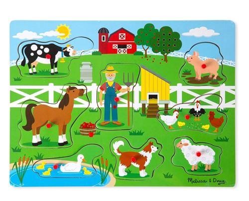 Meiya & Alvin forme puzzle avec son ferme 8 pièces