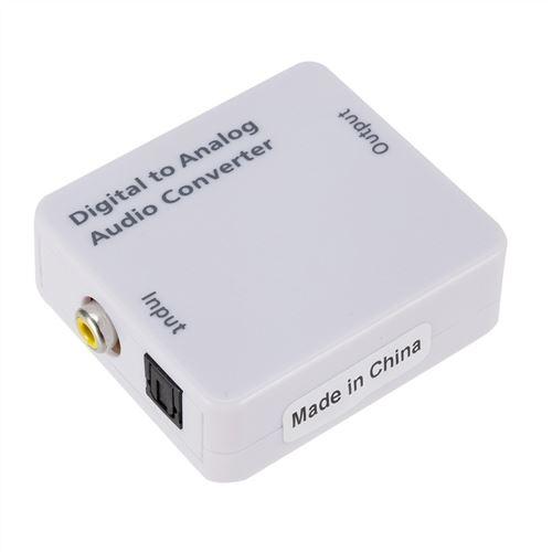 Toslink Coaxiale Numérique Optique Adaptateur Convertisseur Audio Analogique Rca L / R De 3,5 Mm Bla