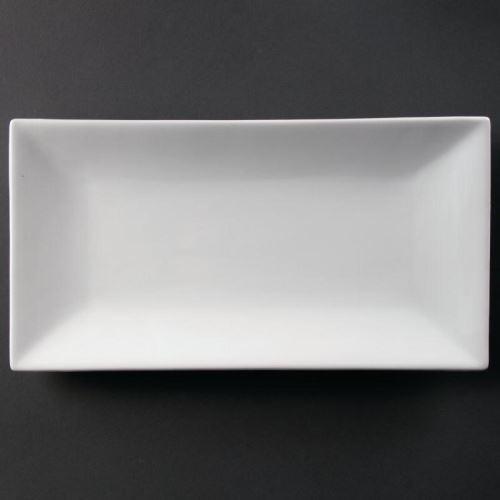 Plat rectangulaire de service 380 x 200mm olympia