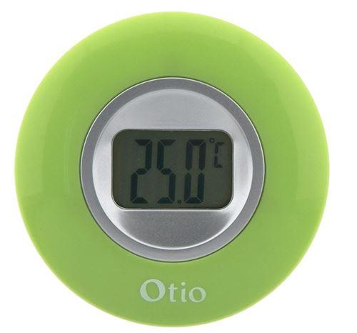 Otio thermomètre d'intérieur avec écran LCD 77 mm vert