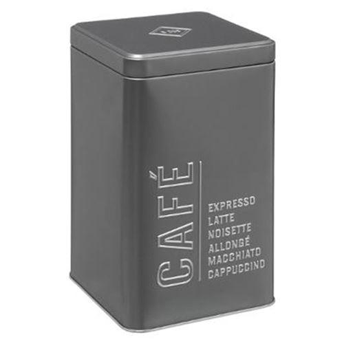 Boîte à Café Relief V 18cm Gris