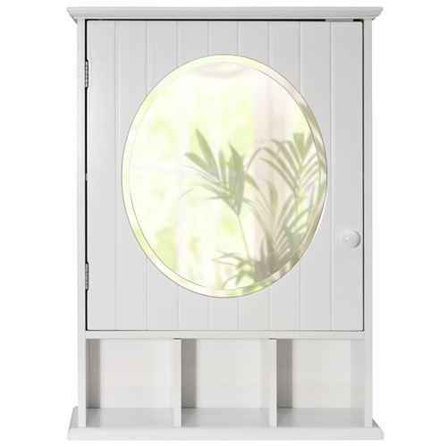 Watsons - NEW ENGLAND - Cabinet armoire murale salle de bain miroir - blanc