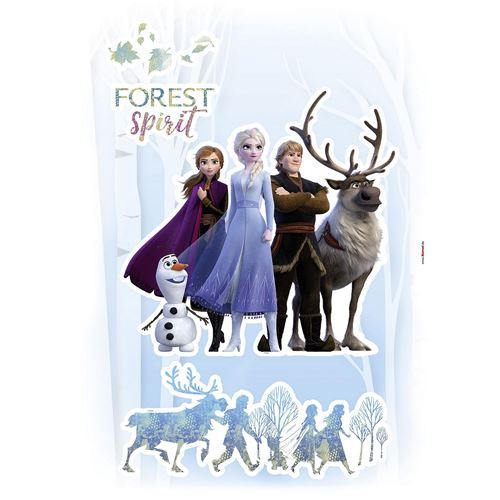 Stickers muraux géant La Reine des Neiges Disney Frozen Spirit Esprit Glacé 50 x 70 cm
