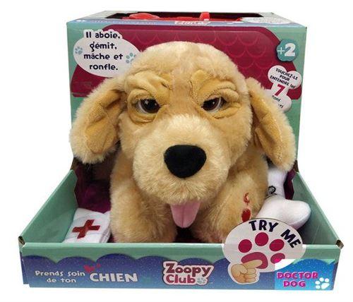 Zoopy Club le chien docteur peluche interactive