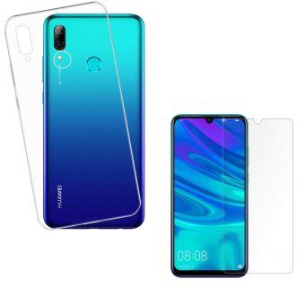 Coque pour Huawei P SMART 2019 Verre Trempé Film Protection Ecran - Housse Etui Gel TPU Silicone Transparent Protection Souple Ultra Mince Fine Slim ...