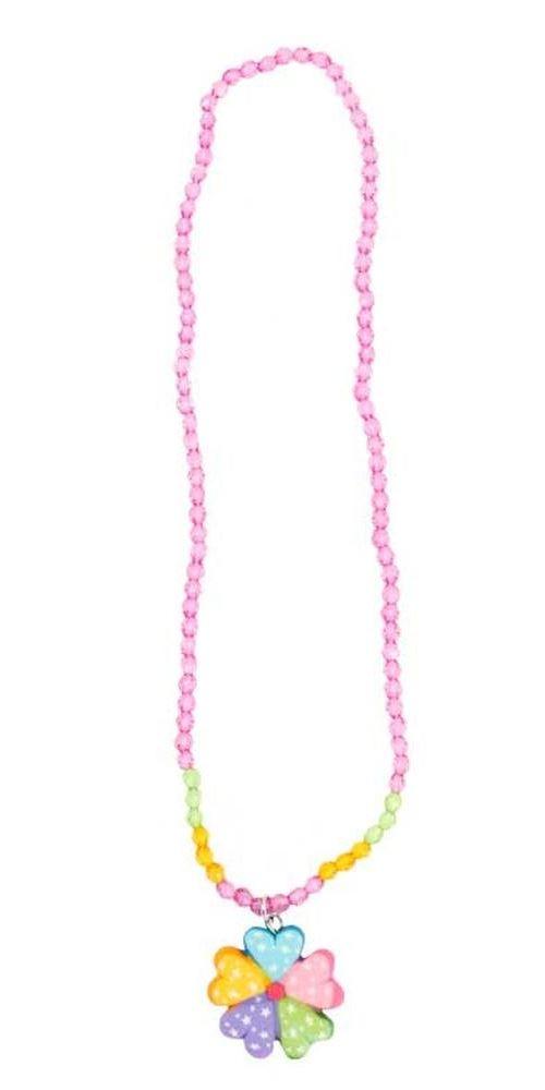trullala Chaîne Motif fleurs multicolores Bijou Enfant, Enfant, collier