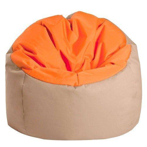 Pouf Bowly Orange & Beige