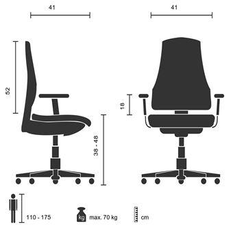 Chaise de bureau Siège pivotant enfant TEEN RACER AL noir rouge hjh OFFICE