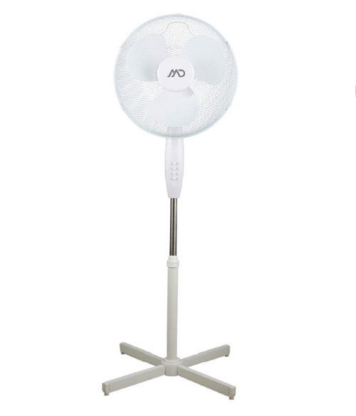 Ventilateur sur pied 40cm 40w 3 vitesses blanc MF18W MD HOME