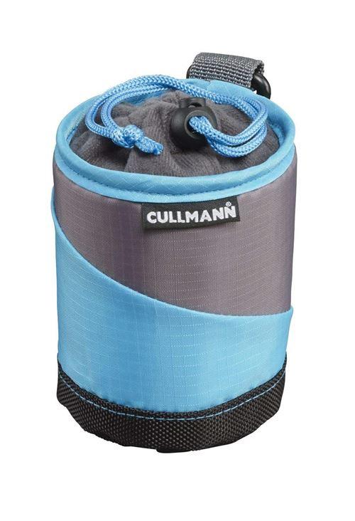 Cullmann Lens Container Housse Pour Objectif Taille Petit Cyan/gris