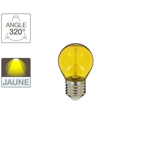Ampoule LED P45 - cuLot E27 - éclairage jaune