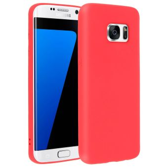 coque samsung s7 rouge silicone