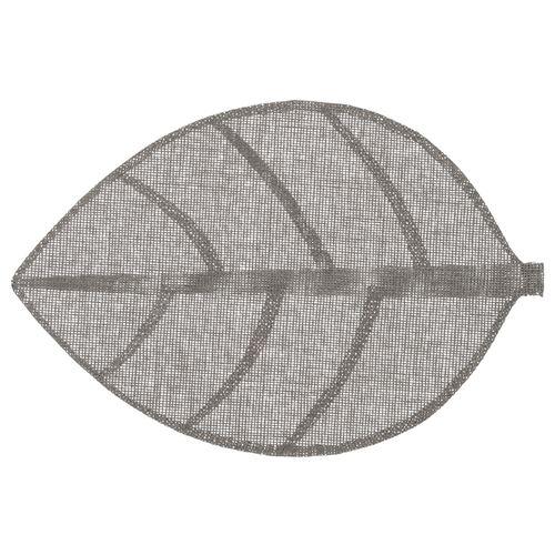 Set de table Feuille - 50 x 33 cm - Gris