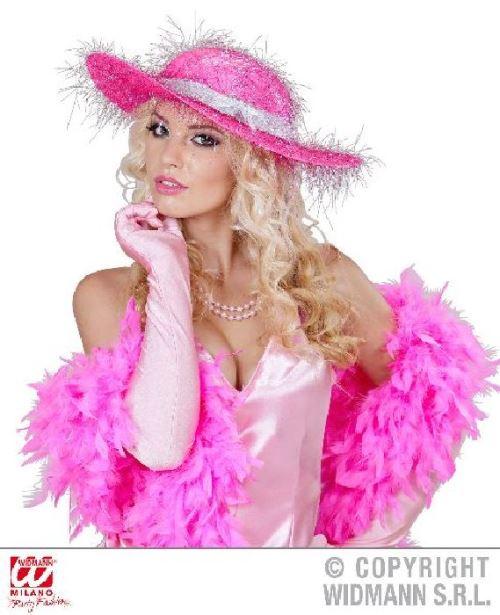 Chapeau rose femme glamour