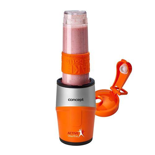 CONCEPT électroménager SM3381 smoothie maker « ACTIVE SMOOTHIE », un récipient, 500 W, orange + argent, sans BPA