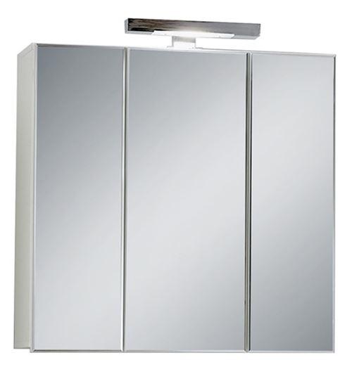 Meuble haut de salle de bains en bois coloris blanc - L.70 x H.69 x P.19 cm -PEGANE-