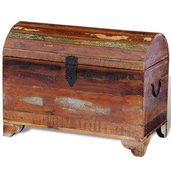 vidaXL Coffre de stockage en bois solide recyclé - Mobilier de ...