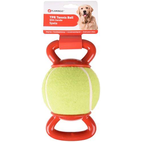 Balle de tennis avec 2 poignées. ø 13 cm. pour chien. - Flamingo Pet Products - FL-518650