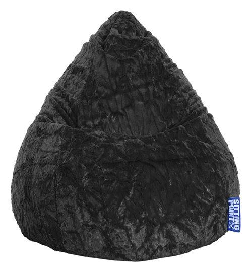 Pouf Fluffy XL noir