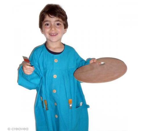 Blouse de peinture enfant Bleu 5 - 10 ans