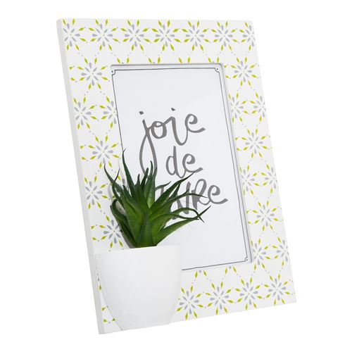 Cadre photo tropical Cactus - Blanc
