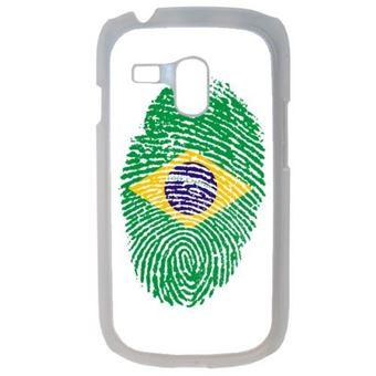 Coque empreinte digitale drapeau bresil brazil compatible samsung galaxy s3 mini transparent