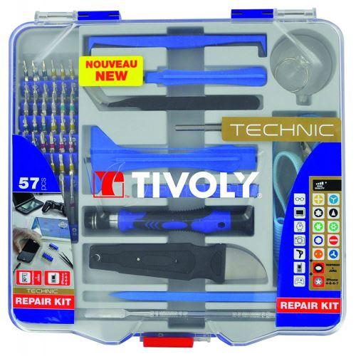 Coffret TIVOLY 57 Pièces kit réparation smartphone et micro réparations