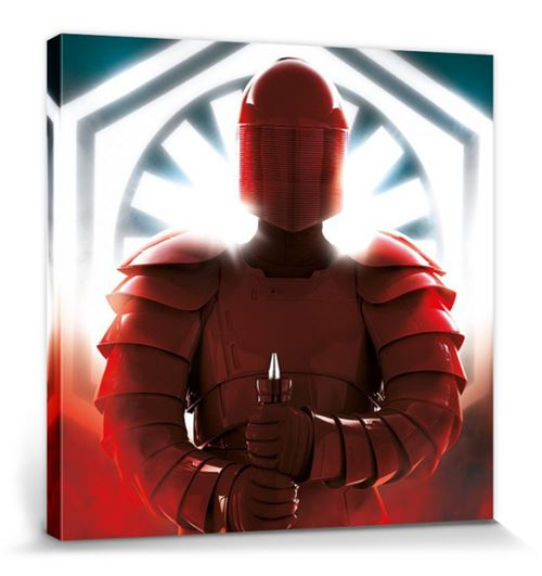 Star Wars Poster Reproduction Sur Toile, Tendue Sur Châssis - Épisode VIII, Les Derniers Jedi Elite Guard Defend (40x40 cm)