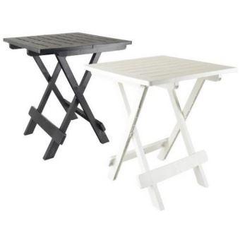Couleur noire : table basse d\' appoint pliante en plastique 50 x 45 x 43cm
