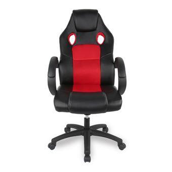 Chaise De Bureau Ou Gamer Jeobest Noir Et Rouge Achat Prix Fnac