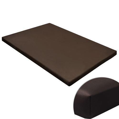 Tapis plat rectangulaire pour chien marron taille M
